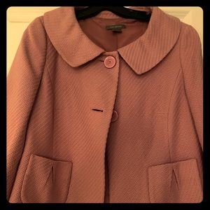 Lavender cropped pea-style jacket